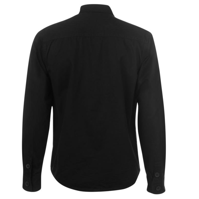 Pierre Cardin Button Shacket Mens Black