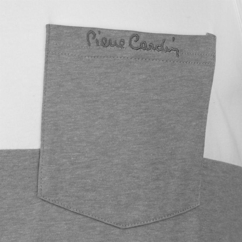 Tílko Pierre Cardin Cut and Sew Marl Vest Mens White/Grey M
