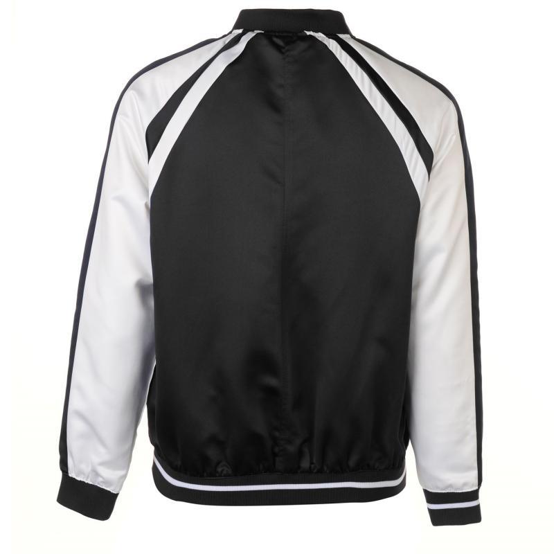 Pierre Cardin Panel Bomber Jacket Mens Black/White