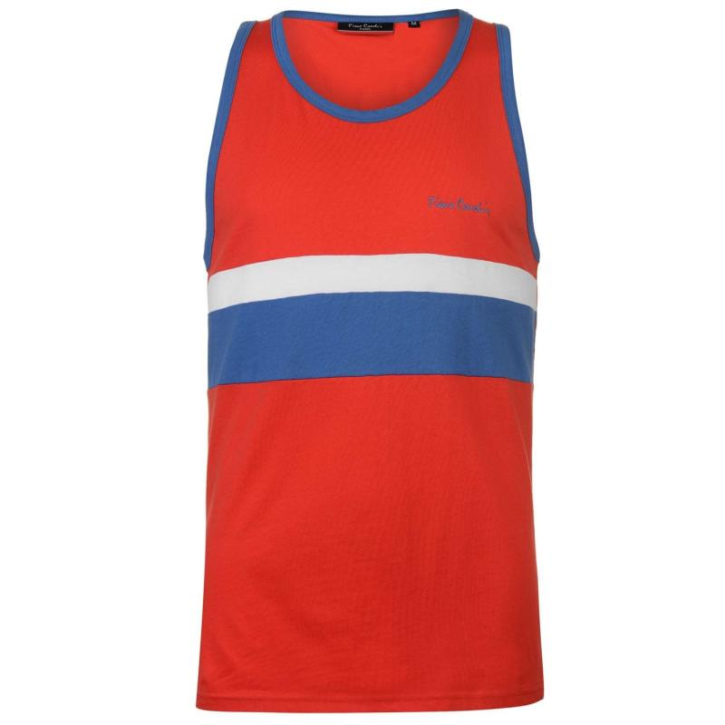 Tílko Pierre Cardin Thin Cut and Sew Vest Mens Red