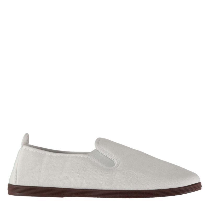 Boty Slazenger Kung Fu Junior Boys Canvas Shoes White