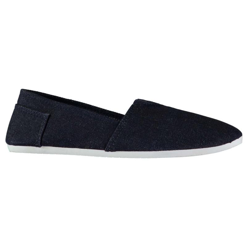 Slazenger Sams Mens Canvas Shoes Navy/Stripe