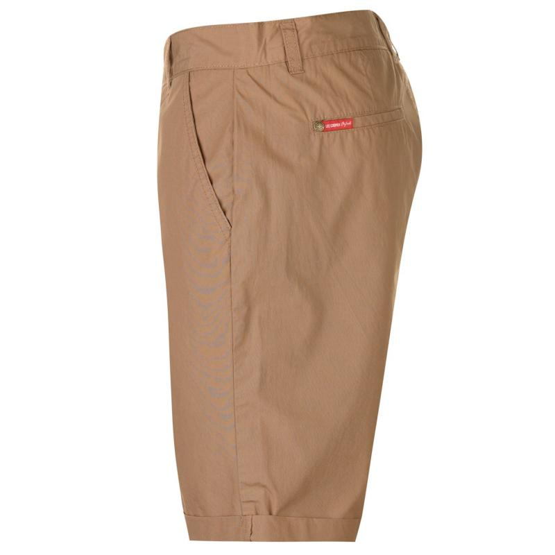 Lee Cooper Essential Chino Shorts Mens Mocha