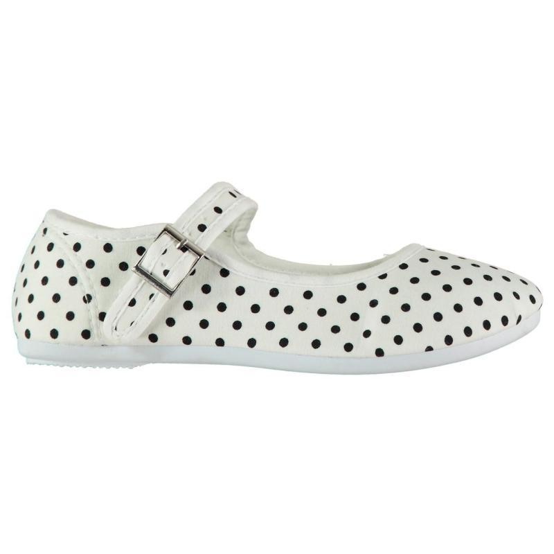 Slazenger Mary Jane Infant Girls Canvas Shoes White