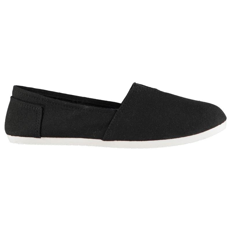 Obuv Slazenger Sams Ladies Canvas Shoes Black