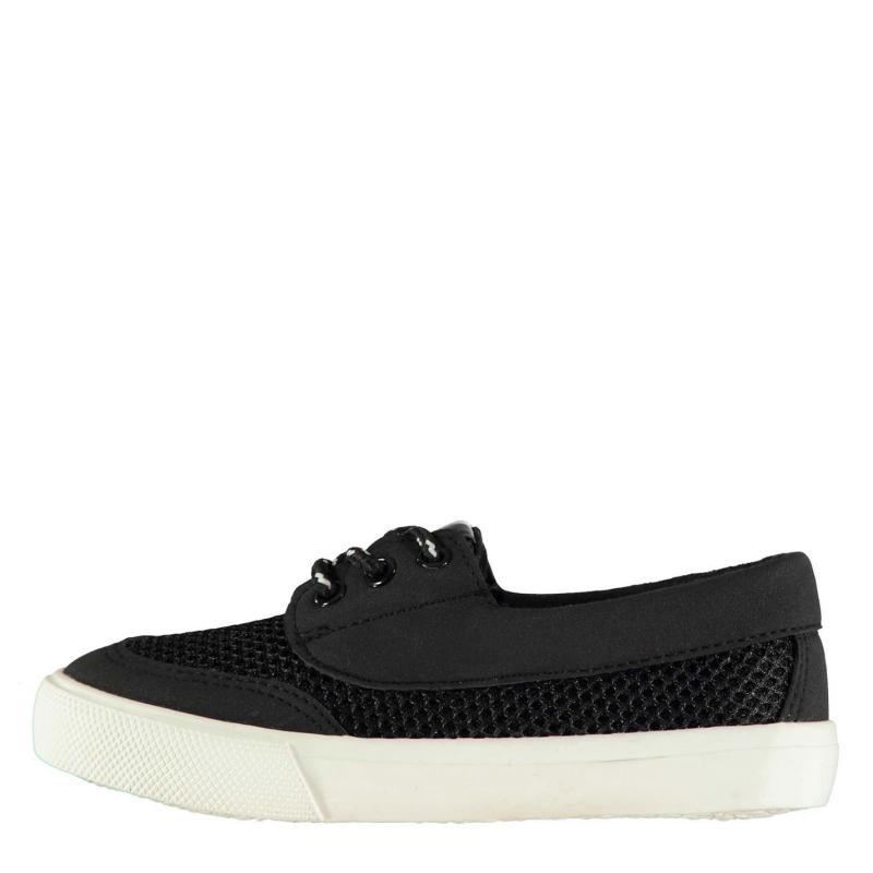 Boty Soviet Boat Lace Child Boys Shoes Black
