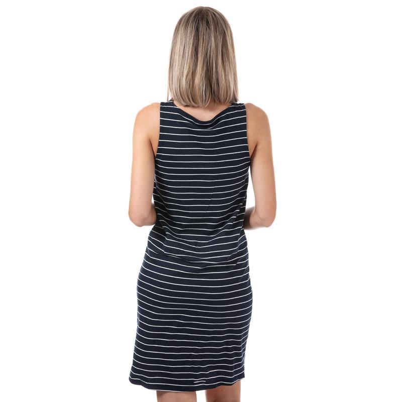 Šaty Only Womens May Sleeveless Stripe Dress Navy-White