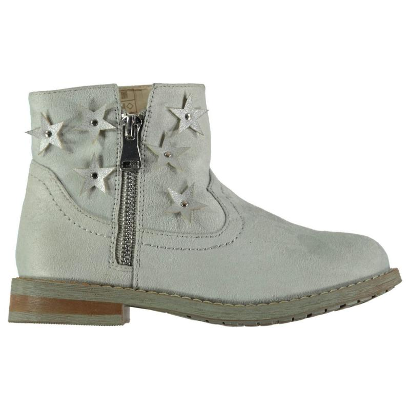 Crafted Child Girls Star Boots Grey