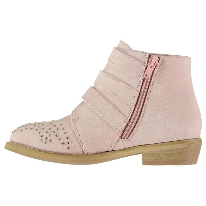 SoulCal Junior Girls Buckle Boots Pink