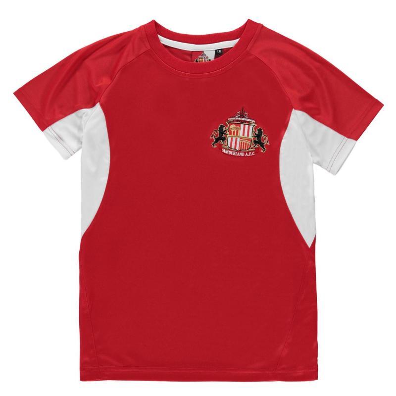Source Lab Sunderland AFC Poly T Shirt Junior Boys Red