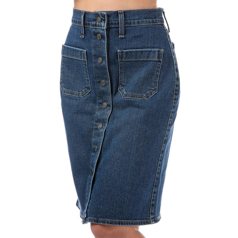 Sukně Levis Womens Front Detailed Skirt Indigo