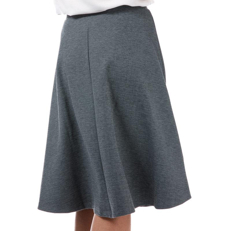 Sukně Yumi Womens Knee Length Ponte Skater Skirt Charcoal