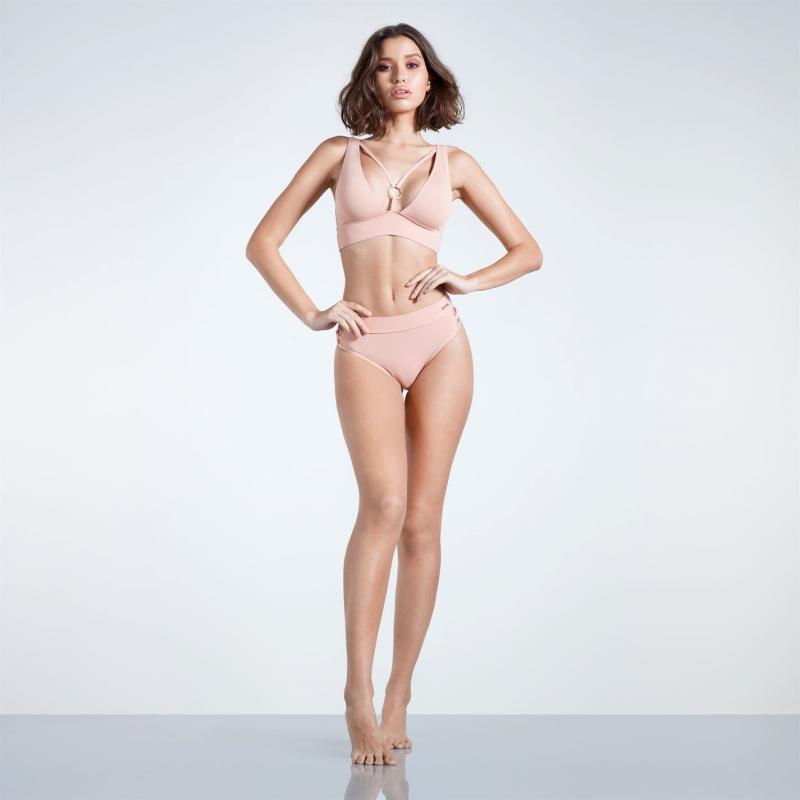Plavky Firetrap Blackseal Plunge Bikini Bottoms Rose