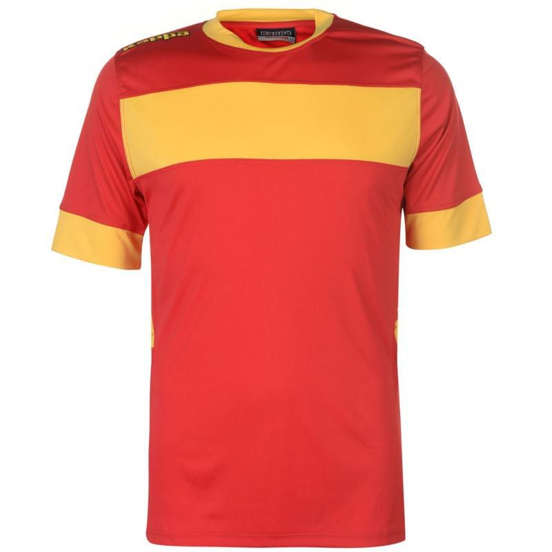 Tričko Kappa Remilio Short Sleeve T Shirt Mens Red/Yellow