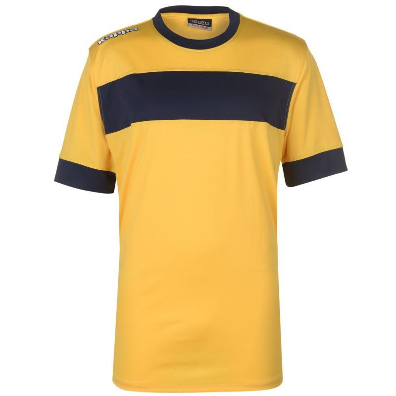 Tričko Kappa Remilio Short Sleeve T Shirt Mens Yellow/Navy