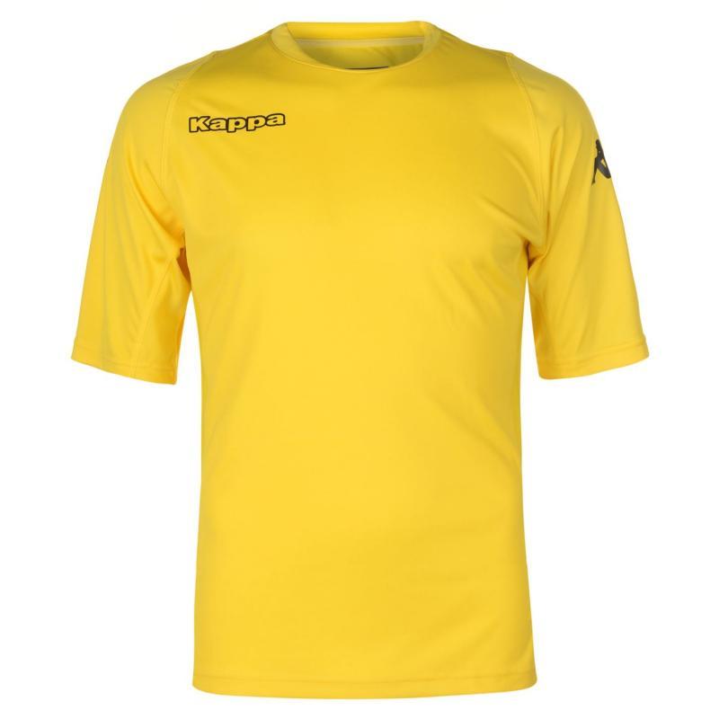 Tričko Kappa Training T Shirt Mens Yellow/Black