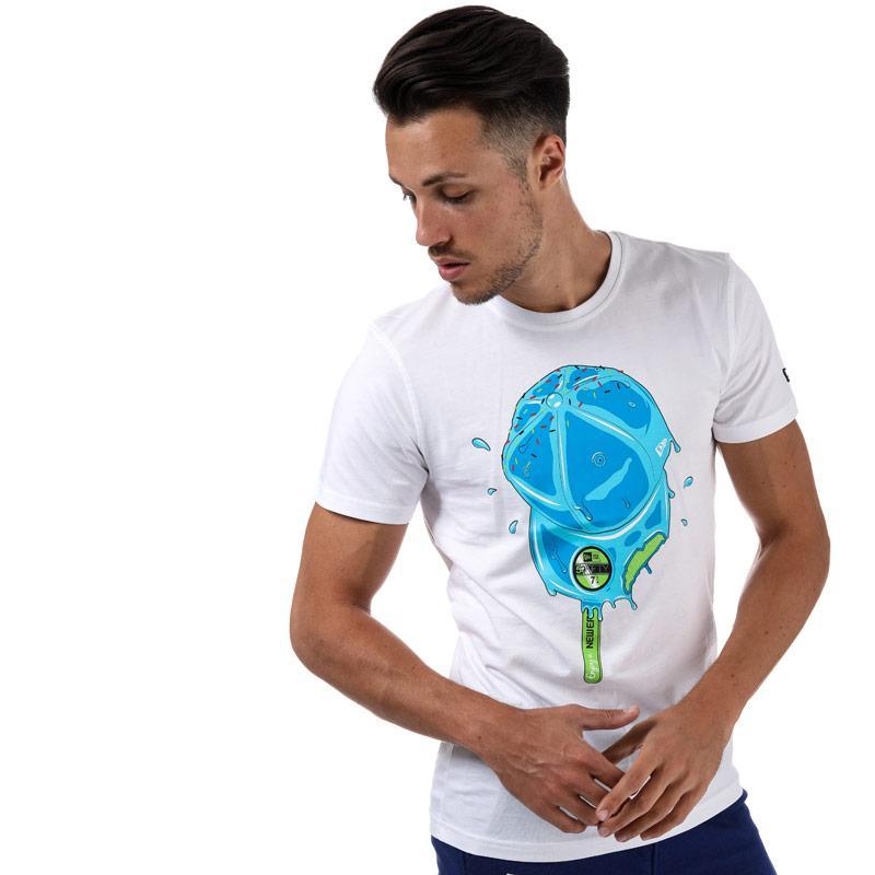 Tričko New Era Mens Drip Ice Lolly T-Shirt White