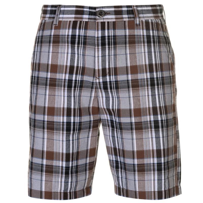Pierre Cardin Check Shorts Mens Black Check