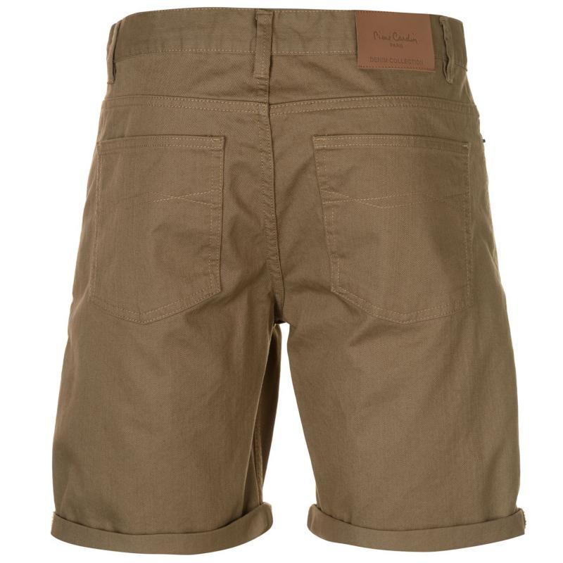 Pierre Cardin Coloured Denim Shorts Mens Sand