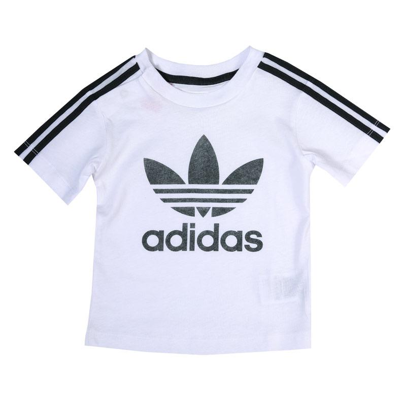 Adidas Originals Infant Girls 3 Stripes T-Shirt White