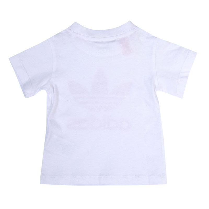 Adidas Originals Infant Girls Trefoil T-Shirt White pink