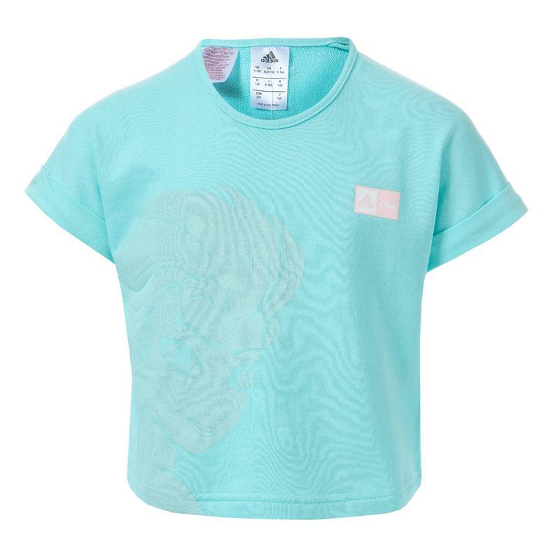 Adidas Performance Junior Girls Frozen Elsa T-Shirt Mint