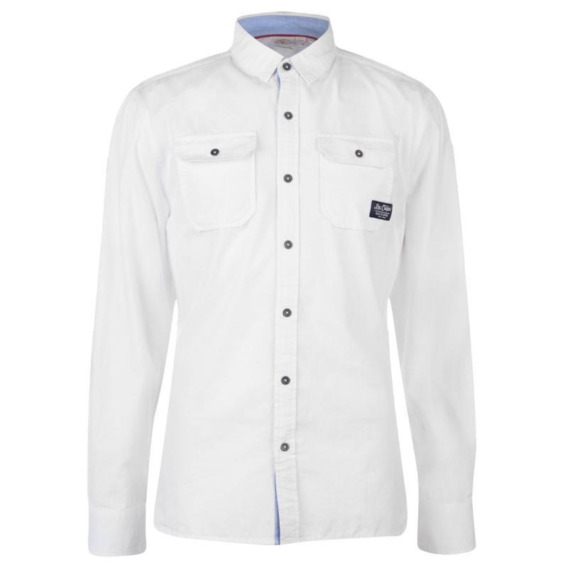Lee Cooper Long Sleeve Fashion Shirt Mens Navy