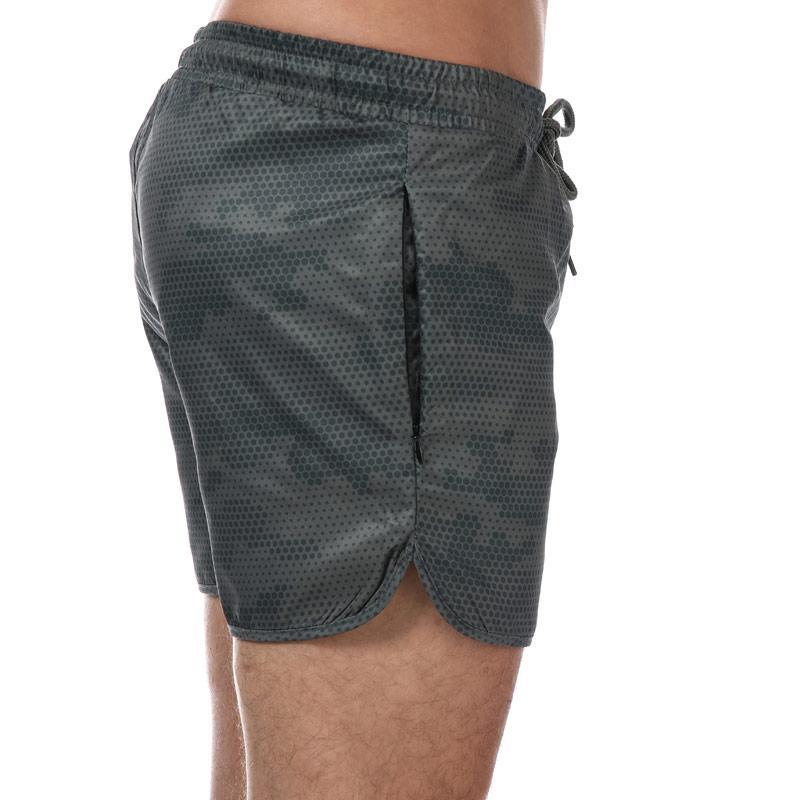Crosshatch Black Label Mens Sanros Swim Shorts olive