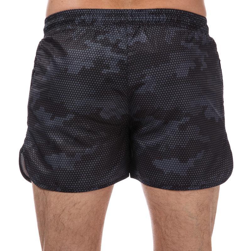 Crosshatch Black Label Mens Sanros Swim Shorts Black