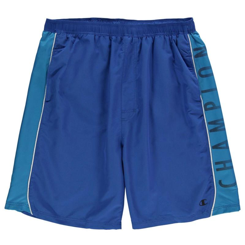 Plavky Champion Side Print Shorts Mens Royal