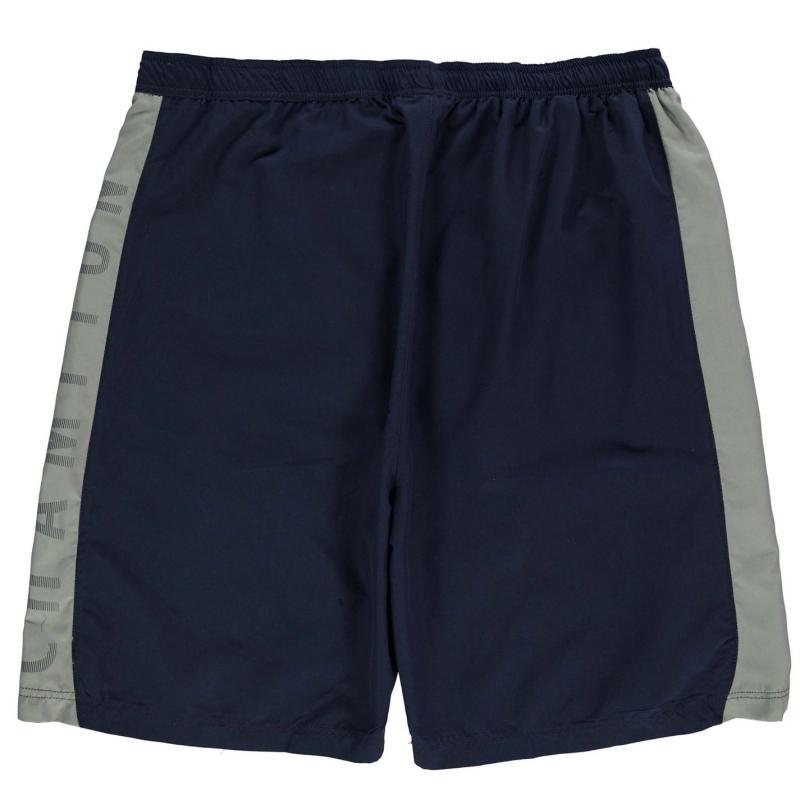 Champion Side Print Shorts Mens Navy