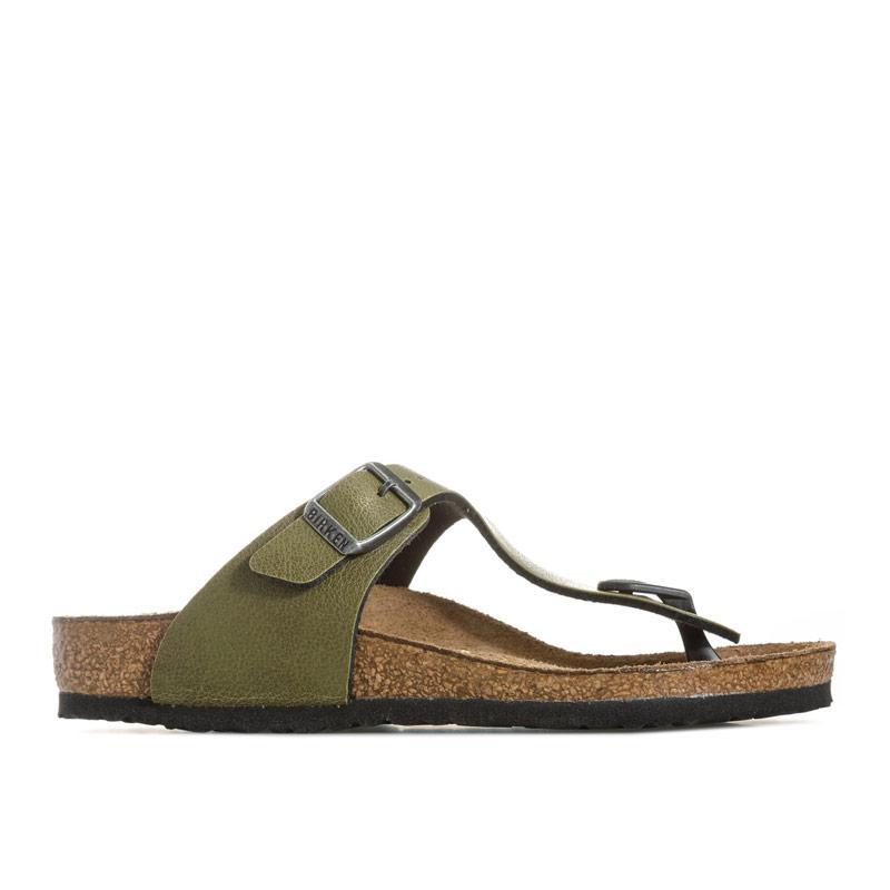 Boty Birkenstock Children Gizeh Narrow Width Sandals olive