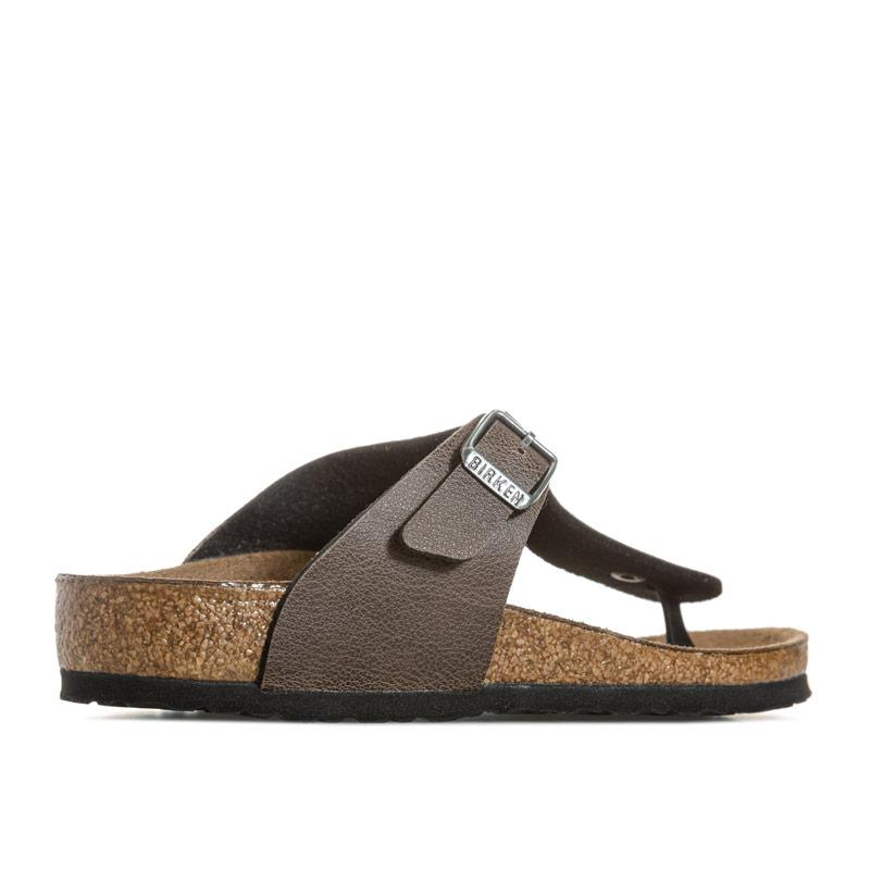 Boty Birkenstock Children Gizeh Narrow Width Sandals Brown