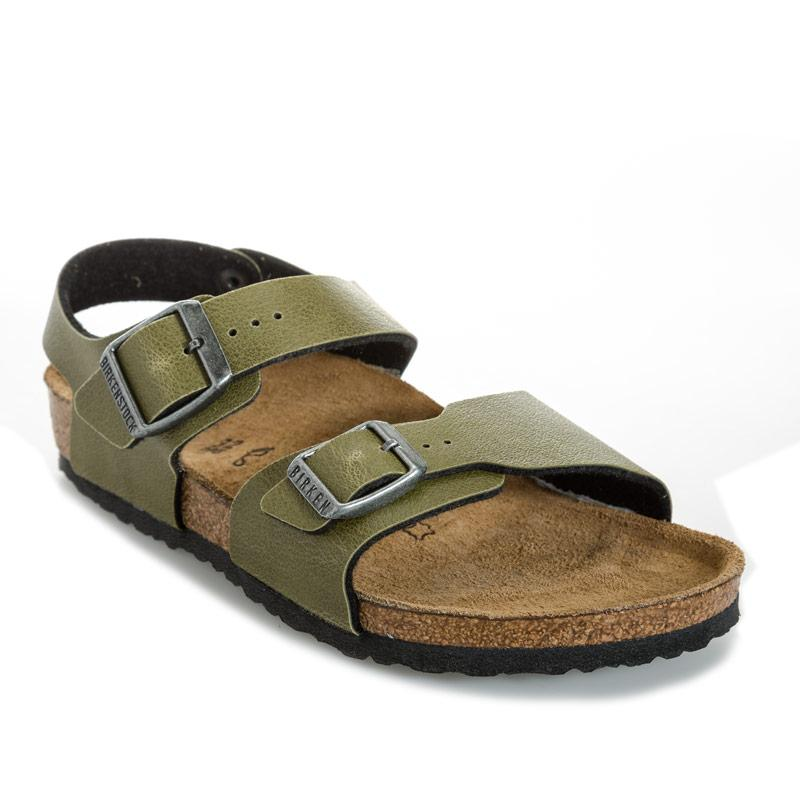 Boty Birkenstock Children New York Regular Width Sandals olive