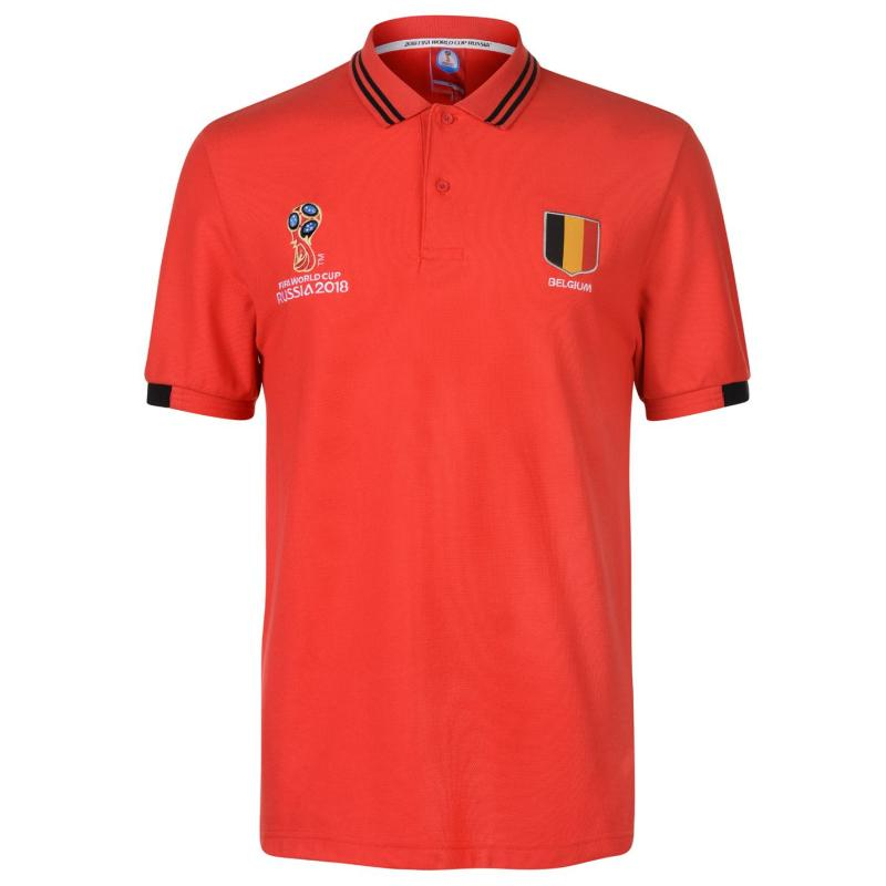 FIFA World Cup Russia 2018 Belgium Polo Mens Red