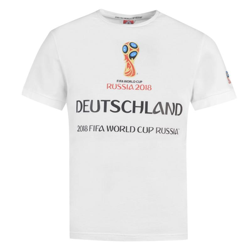 Tričko FIFA World Cup Russia 2018 Germany Graphic T Shirt Mens White