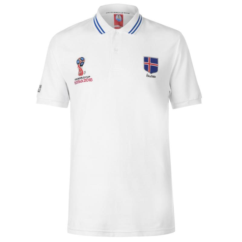 FIFA World Cup Russia 2018 Iceland Polo Mens White