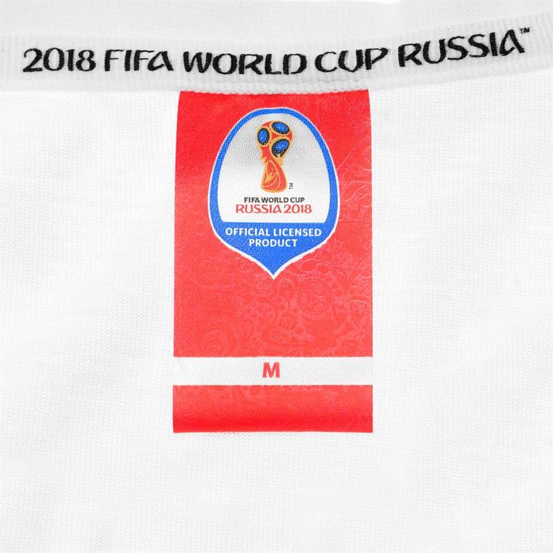 Tričko FIFA World Cup Russia 2018 Poland Graphic T Shirt Mens White