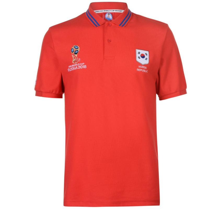 FIFA World Cup Russia 2018 South Korea Polo Mens Red