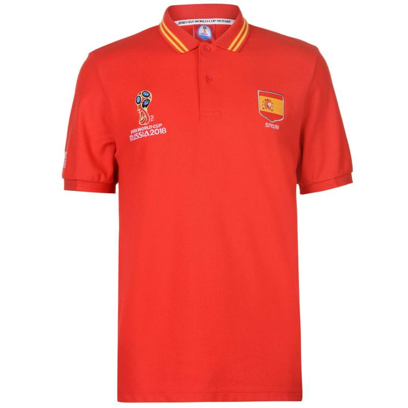 FIFA World Cup Russia 2018 Spain Polo Mens Red