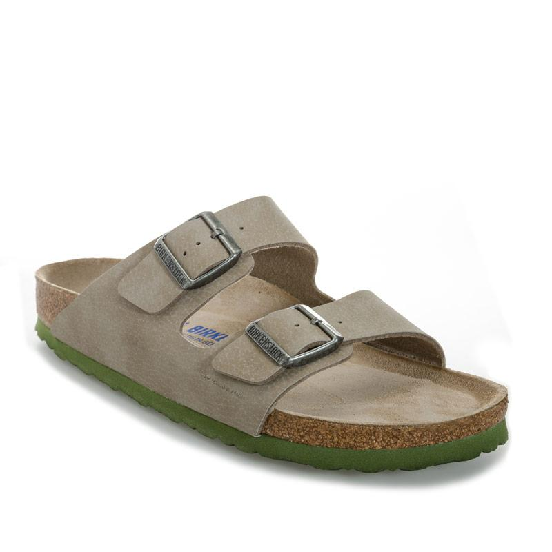 Birkenstock Mens Arizona Soft Footbed Narrow Width Sandals Taupe