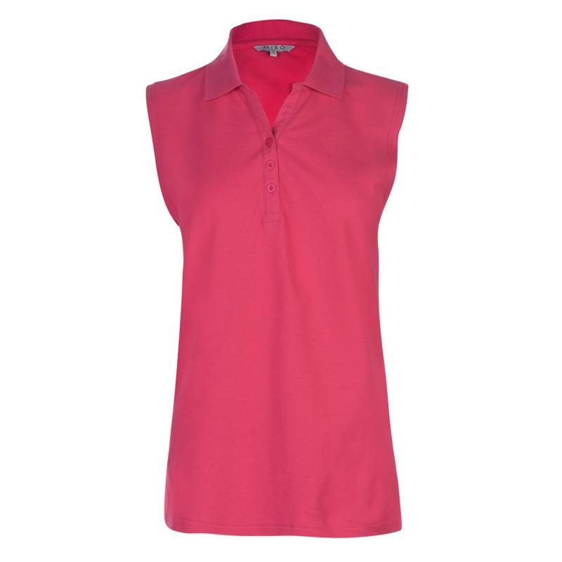 Polokošile Miso Plain Polo Shirt Ladies Fuchsia S/less