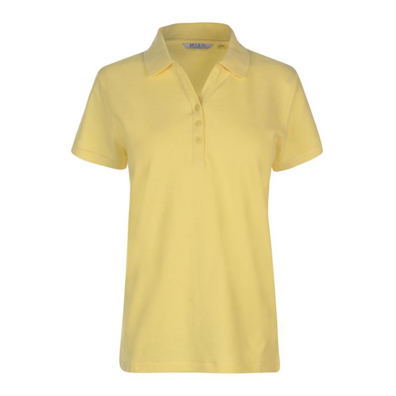 Polokošile Miso Plain Polo Shirt Ladies Yellow