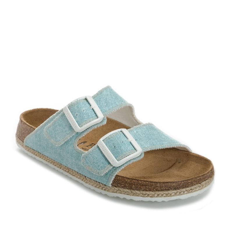 Boty Papillio Womens Arizona Sandals Narrow Width Light Blue