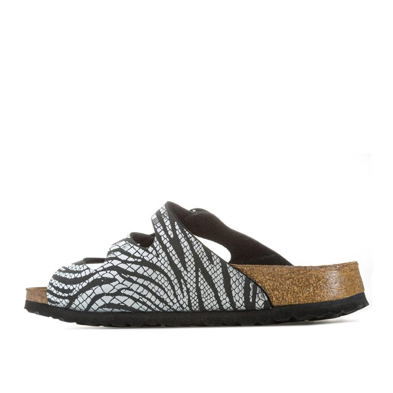 Boty Papillio Womens Florida Zebra Sandals Narrow Width Black silver