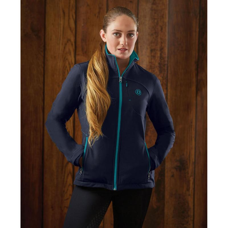 Dublin Sachi Softshell Jacket Ladies Navy/Aqua