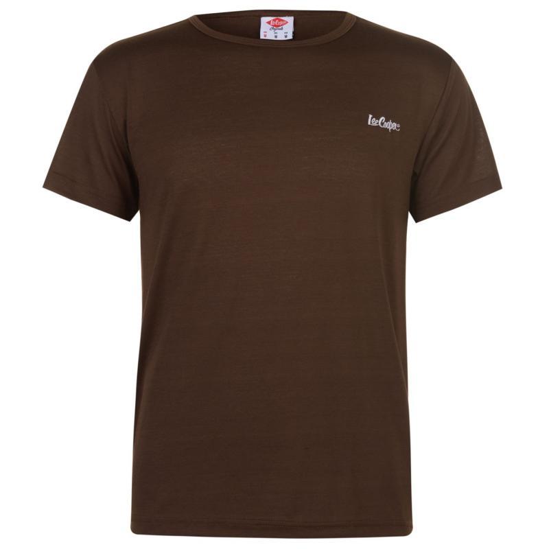 Lee Cooper Basic T Shirt Mens Brown