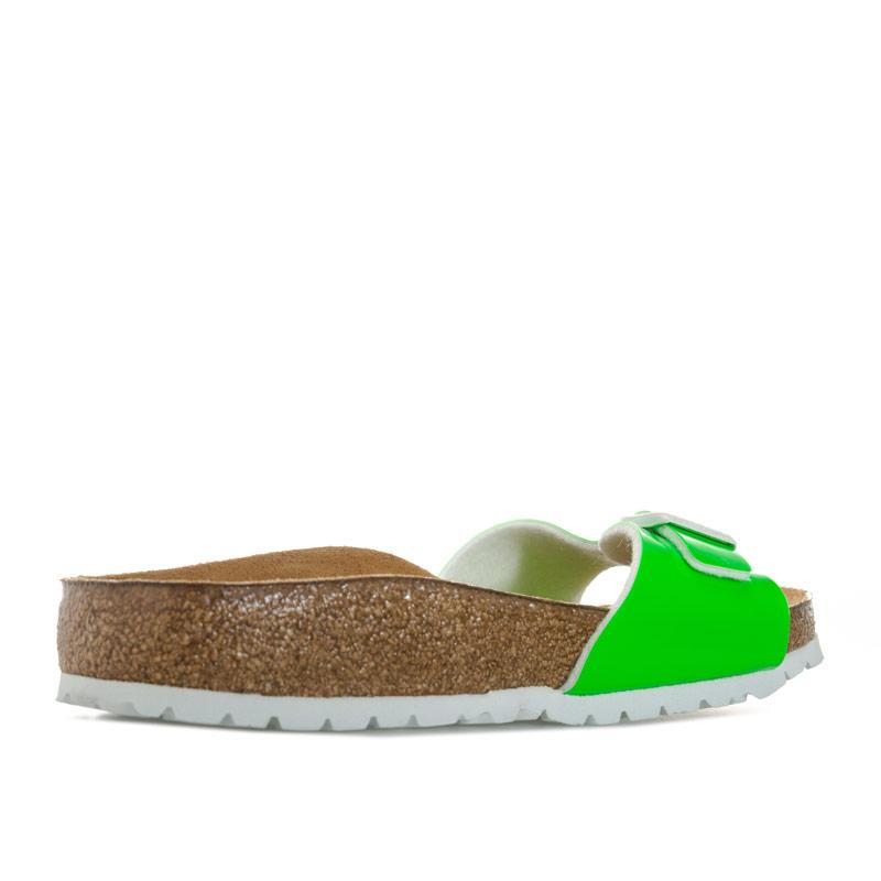 Boty Birkenstock Womens Madrid Patent Sandals Narrow Width Green
