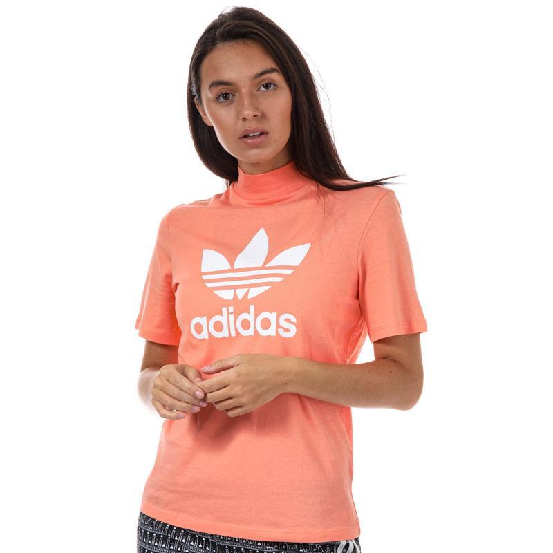 Adidas Originals Womens Pharrell Williams Logo T-Shirt Coral