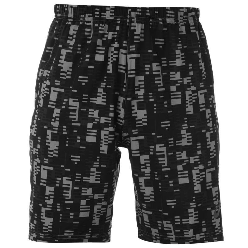 Asics 9 Woven Shorts Mens Black Pixel